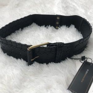 BCBGMAXAZRIA 🖤 Semi Braided Leather Belt S
